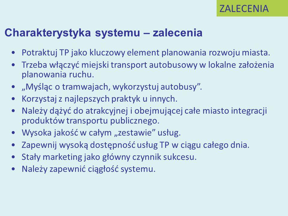 Charakterystyka systemu – zalecenia
