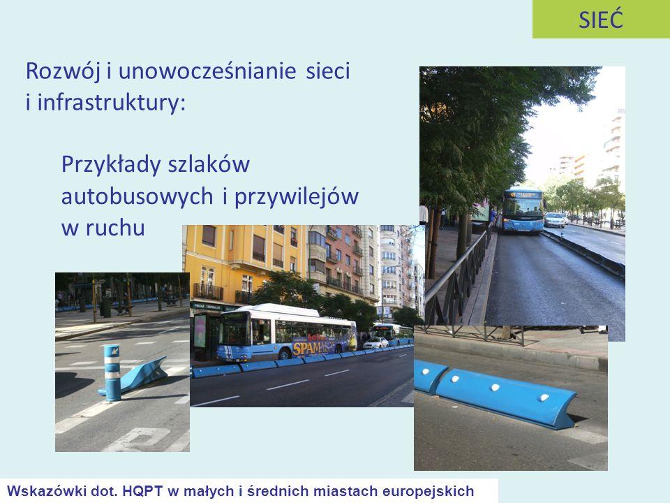 Przykłady szlaków autobusowych i przywilejów w ruchu