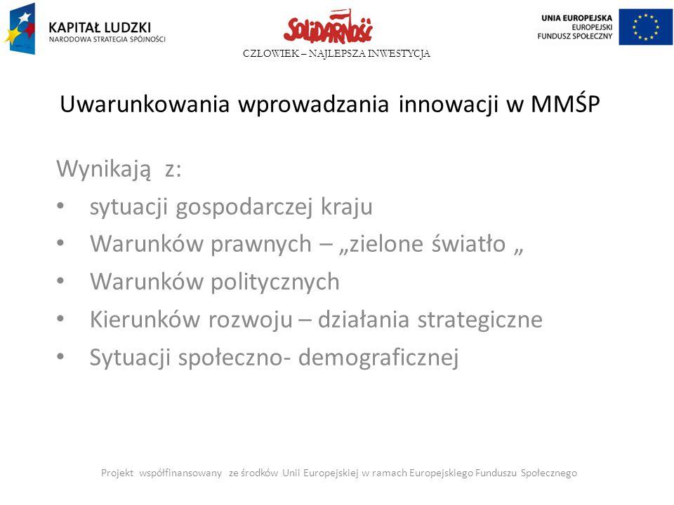 Uwarunkowania wprowadzania innowacji w MMŚP