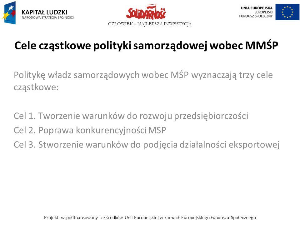 Cele cząstkowe polityki samorządowej wobec MMŚP