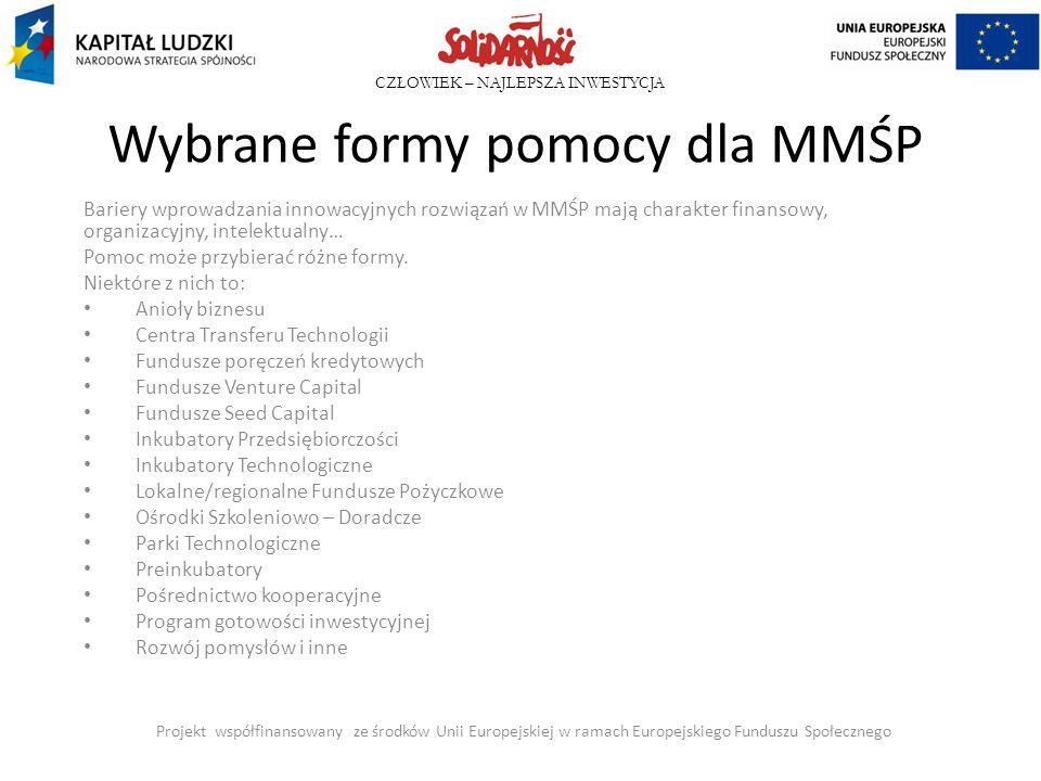 Wybrane formy pomocy dla MMŚP