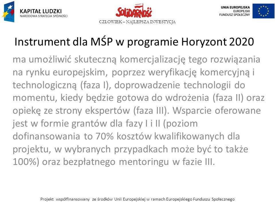 Instrument dla MŚP w programie Horyzont 2020