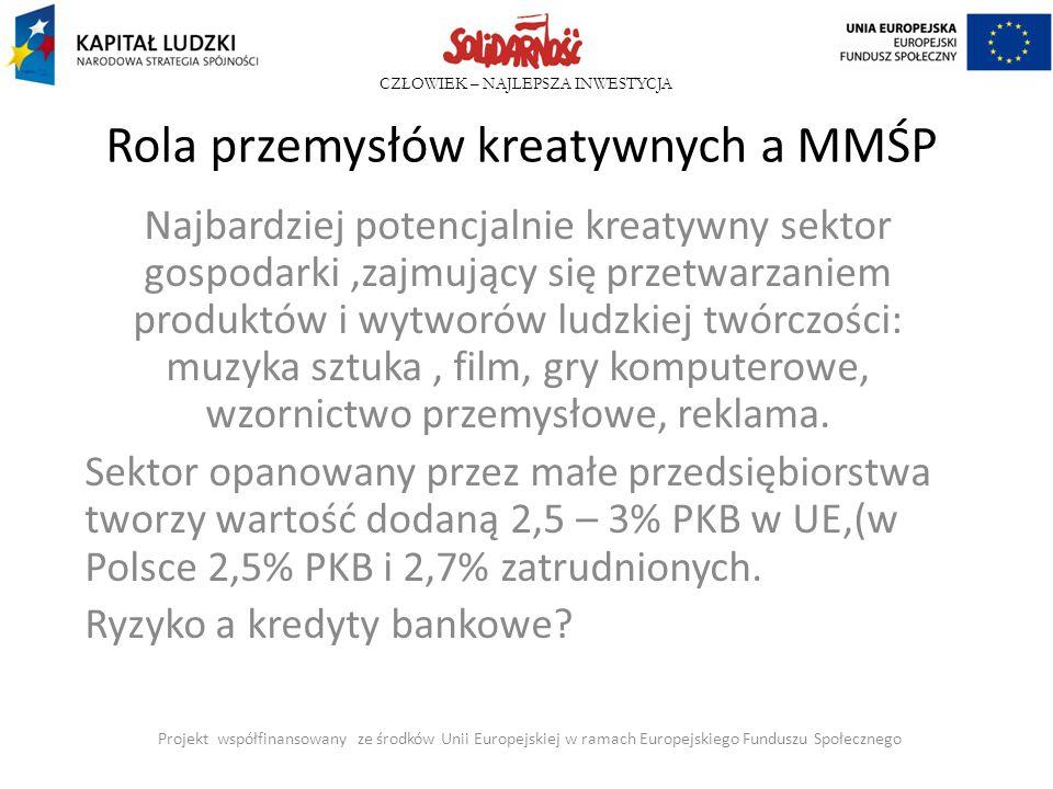 Rola przemysłów kreatywnych a MMŚP