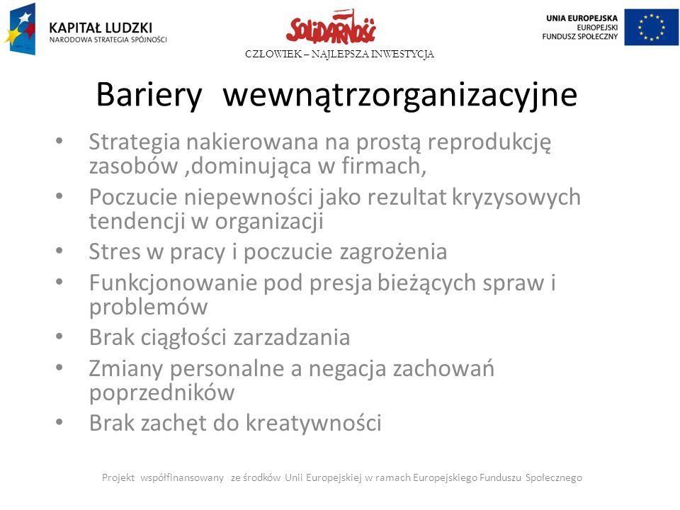 Bariery wewnątrzorganizacyjne