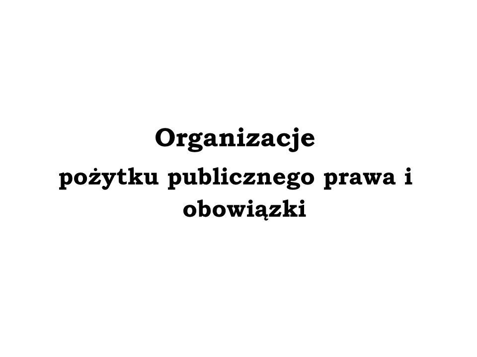 pożytku publicznego prawa i obowiązki