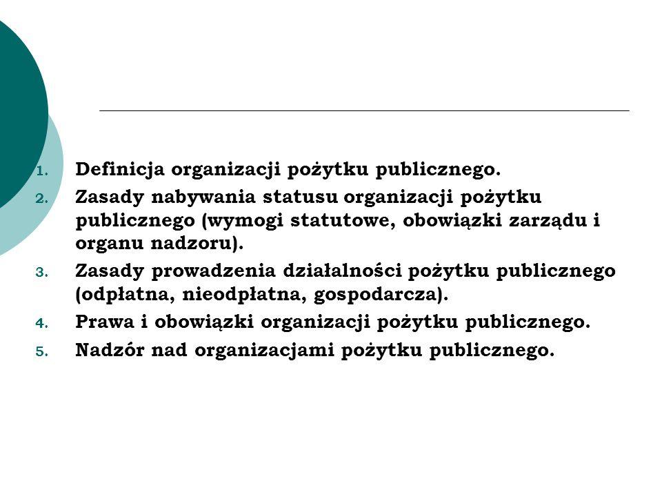 Definicja organizacji pożytku publicznego.