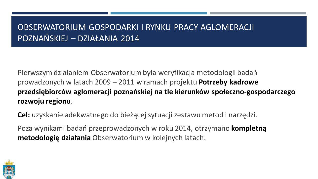 Obserwatorium Gospodarki i rynku pracy aglomeracji poznańskiej – działania 2014