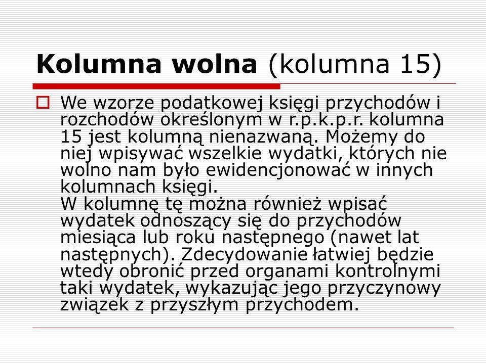 Kolumna wolna (kolumna 15)