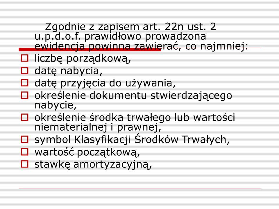 Zgodnie z zapisem art. 22n ust. 2 u. p. d. o. f