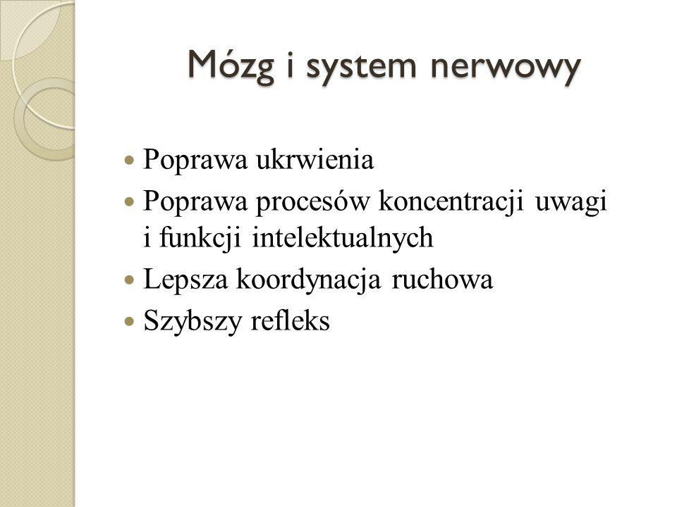 Mózg i system nerwowy Poprawa ukrwienia
