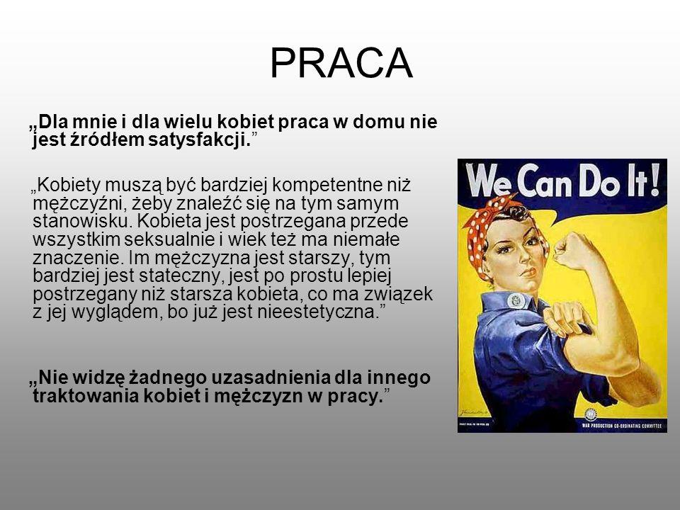 """PRACA """"Dla mnie i dla wielu kobiet praca w domu nie jest źródłem satysfakcji."""