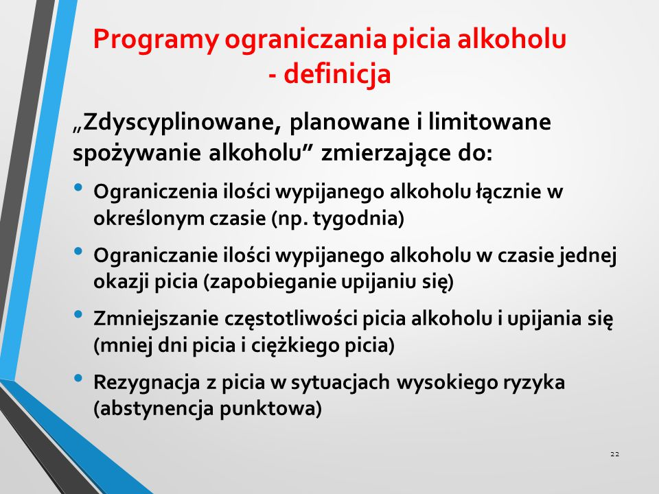 Programy ograniczania picia alkoholu - definicja
