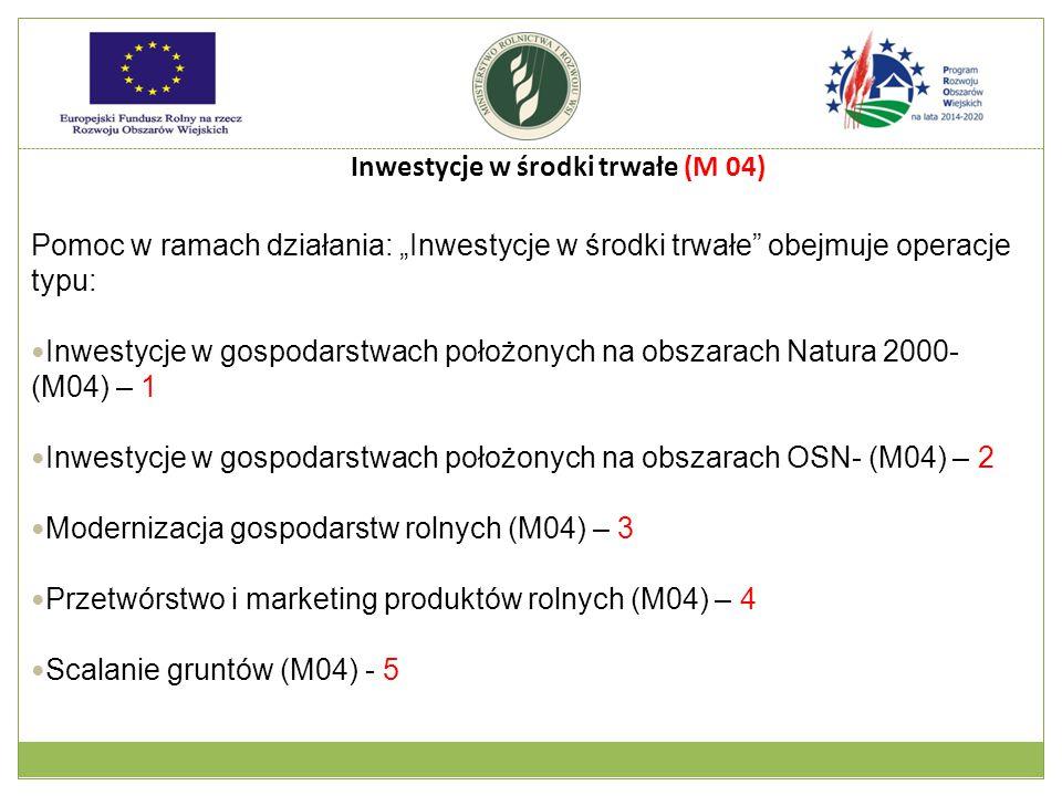 Inwestycje w środki trwałe (M 04)