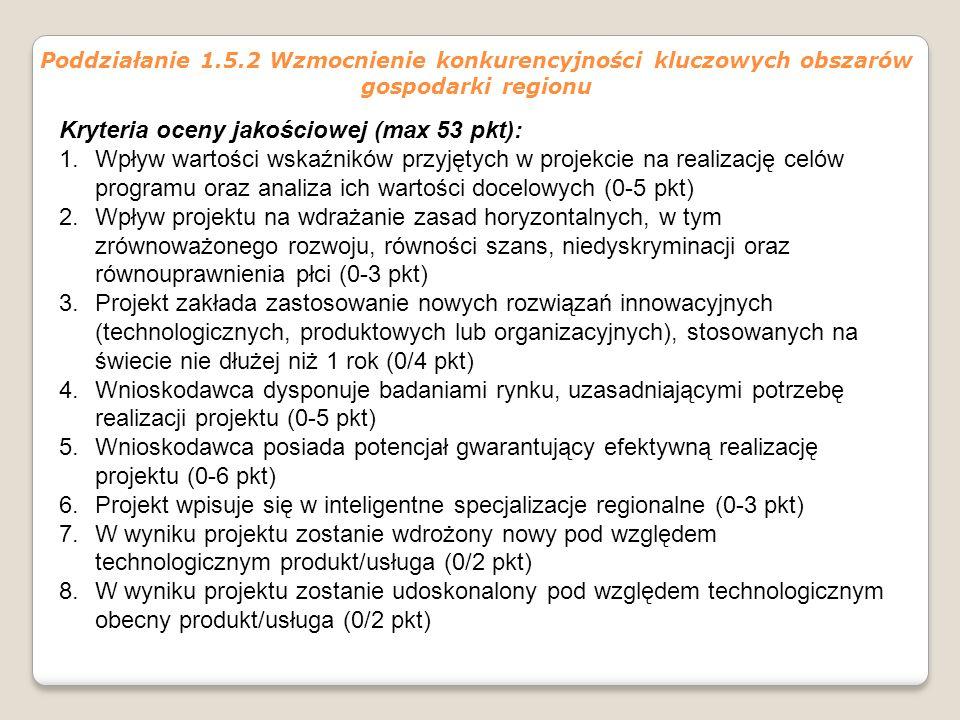 Kryteria oceny jakościowej (max 53 pkt):