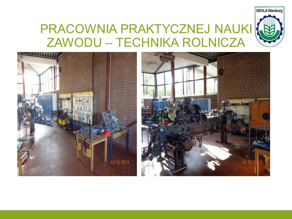 Pracownia praktycznej nauki zawodu – technika rolnicza