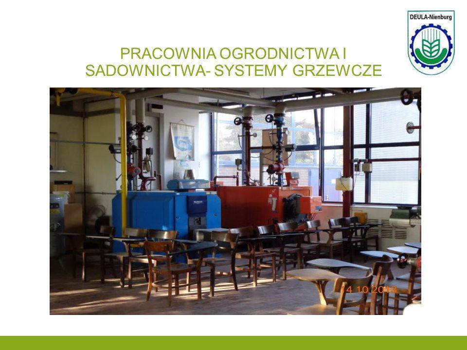 Pracownia ogrodnictwa i sadownictwa- systemy grzewcze