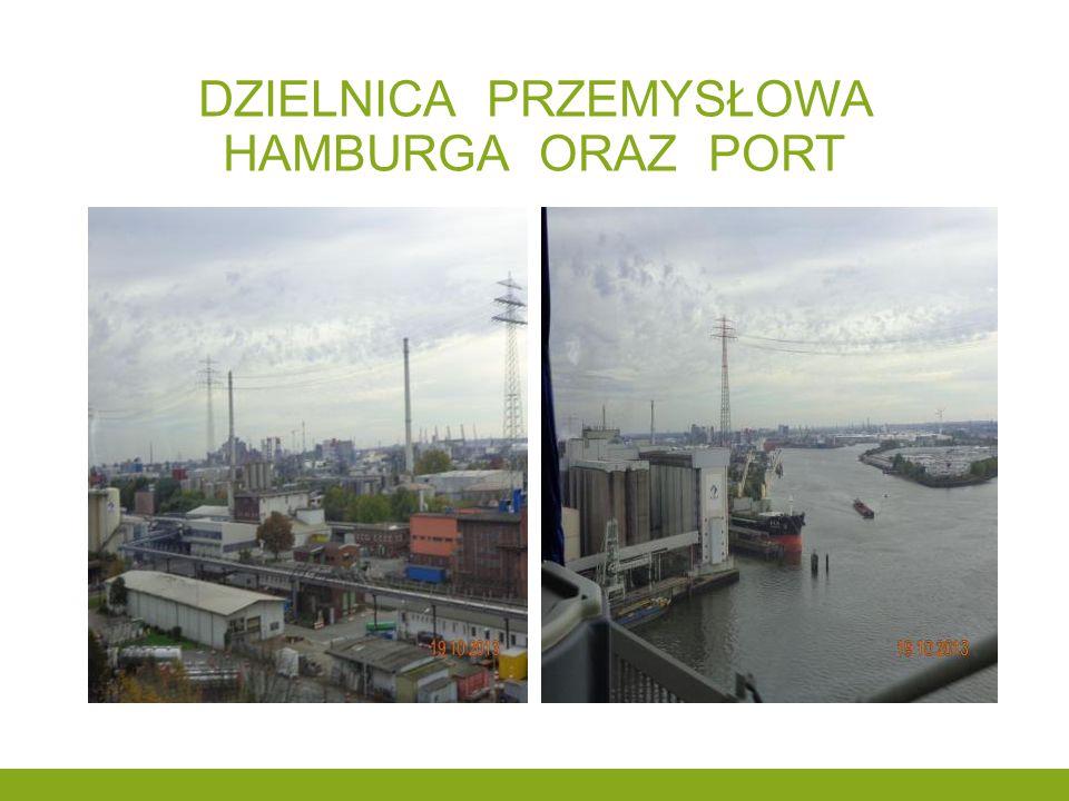 Dzielnica przemysłowa hamburga oraz port