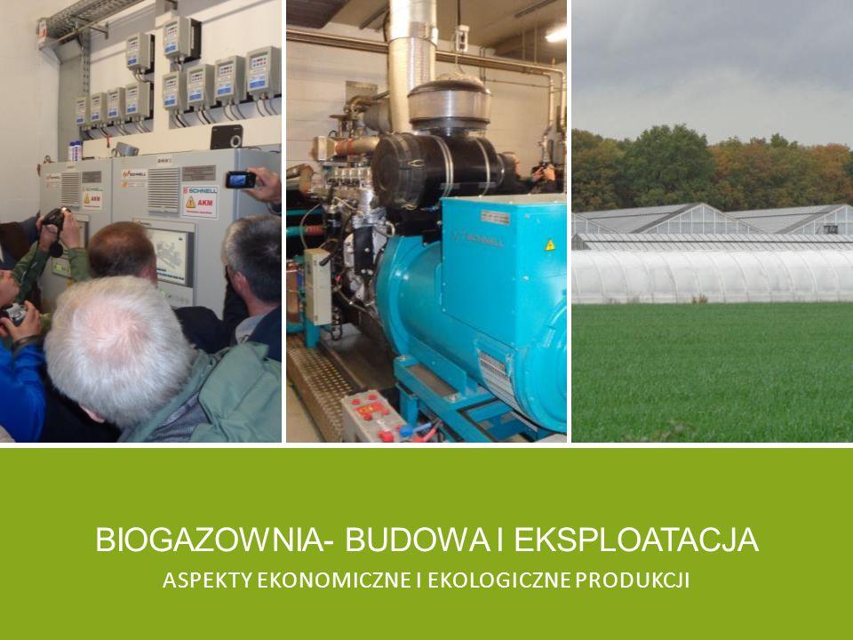 Biogazownia- budowa i eksploatacja