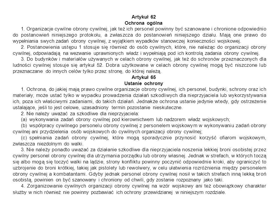 Artykuł 62 Ochrona ogólna.