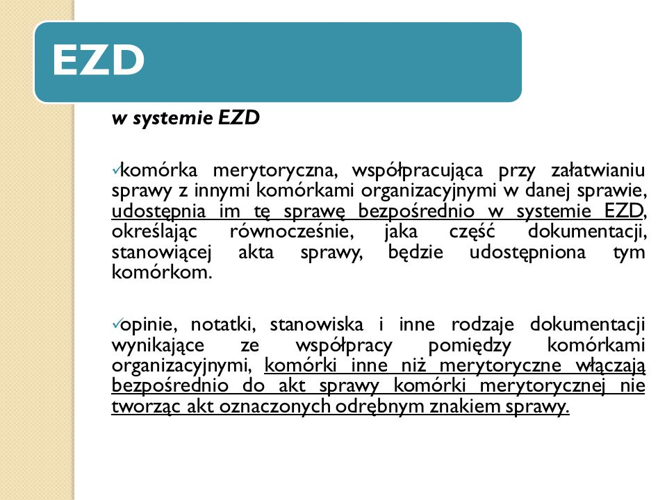 EZD w systemie EZD.