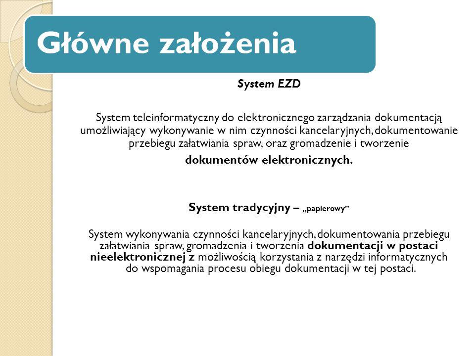 """dokumentów elektronicznych. System tradycyjny – """"papierowy"""