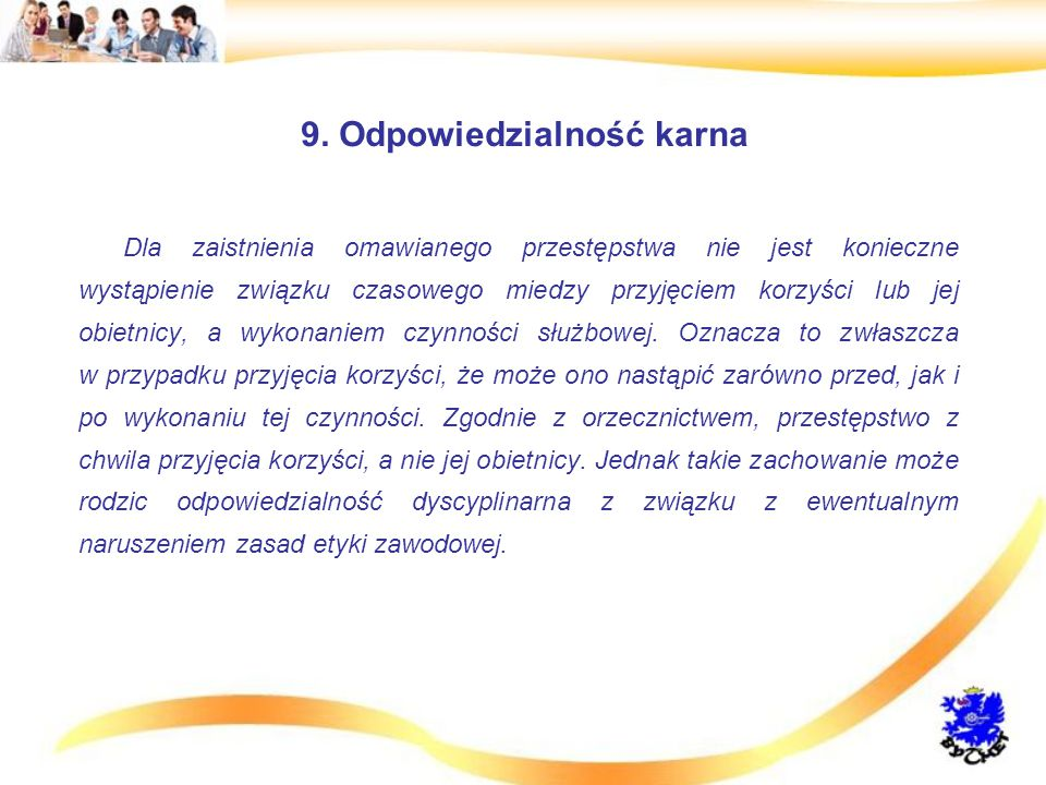 9. Odpowiedzialność karna