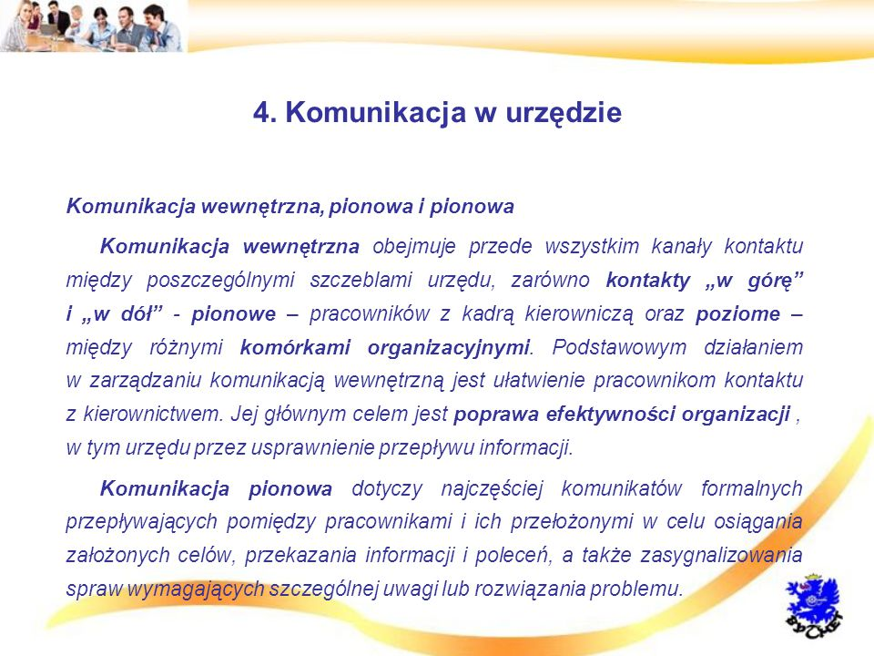 4. Komunikacja w urzędzie