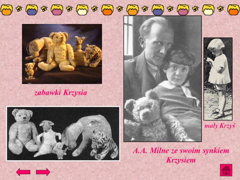 A.A. Milne ze swoim synkiem Krzysiem