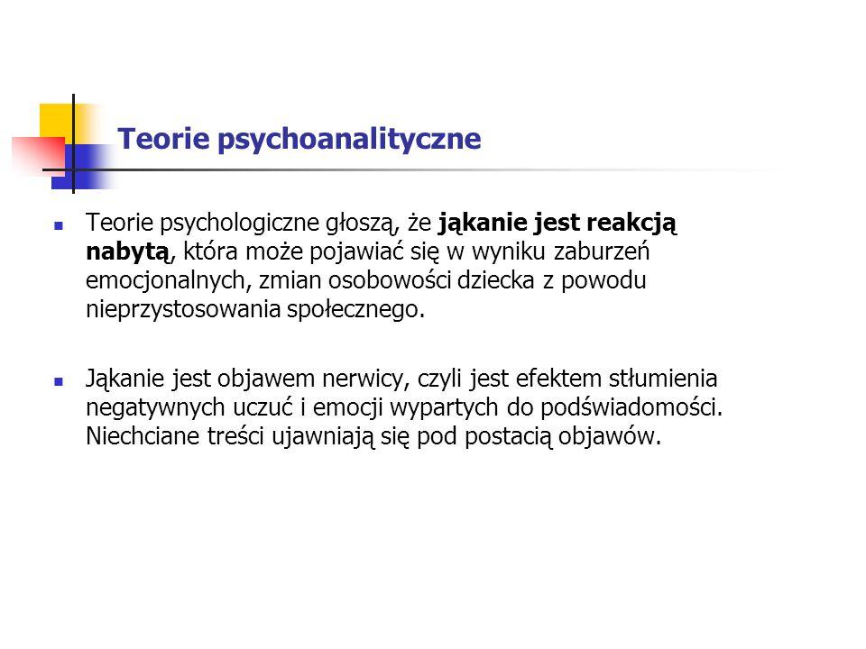 Teorie psychoanalityczne