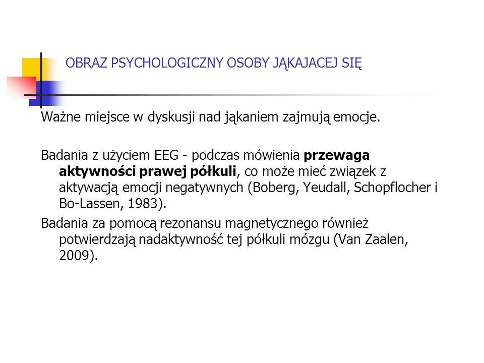 OBRAZ PSYCHOLOGICZNY OSOBY JĄKAJACEJ SIĘ