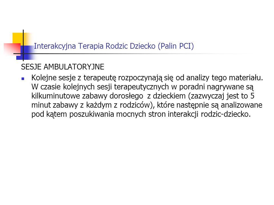 Interakcyjna Terapia Rodzic Dziecko (Palin PCI)