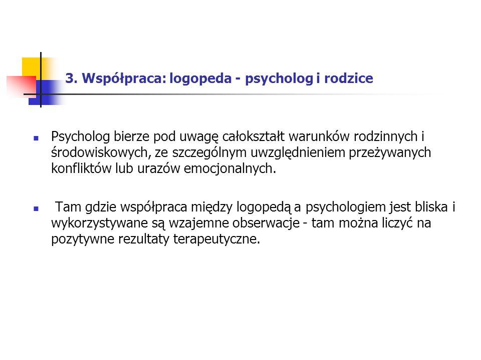 3. Współpraca: logopeda - psycholog i rodzice