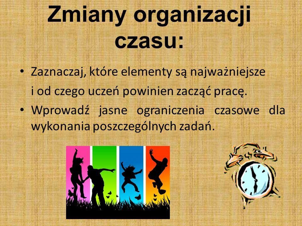 Zmiany organizacji czasu: