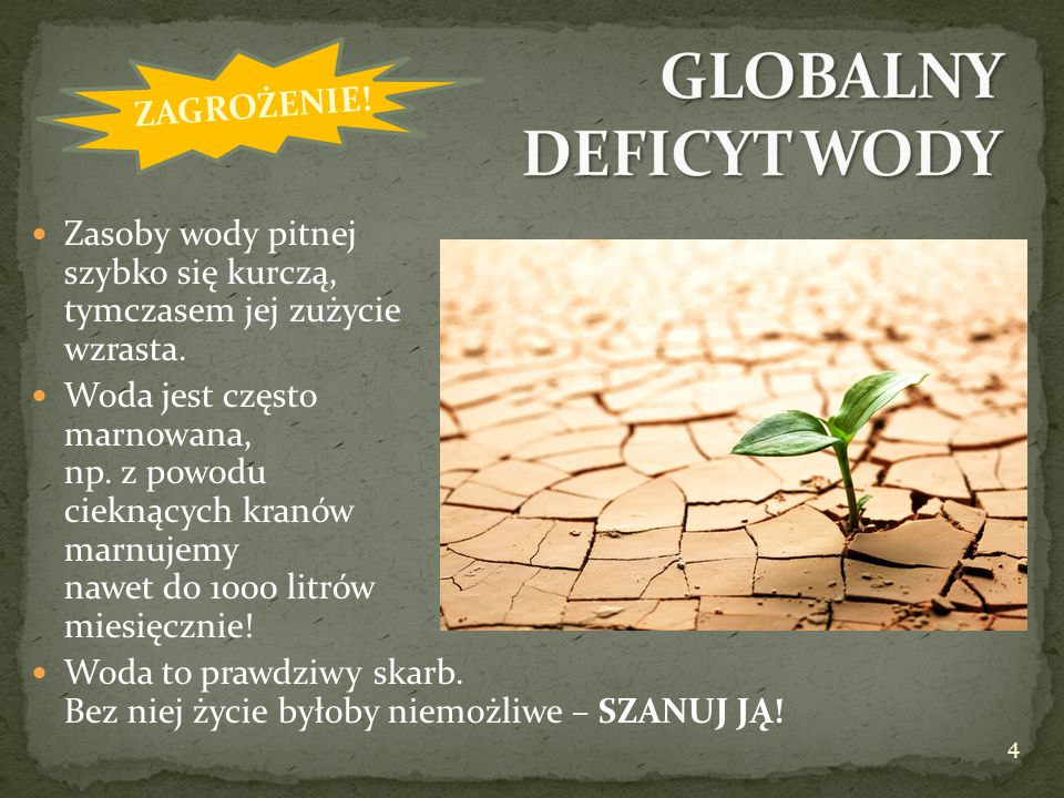 GLOBALNY DEFICYT WODY ZAGROŻENIE!