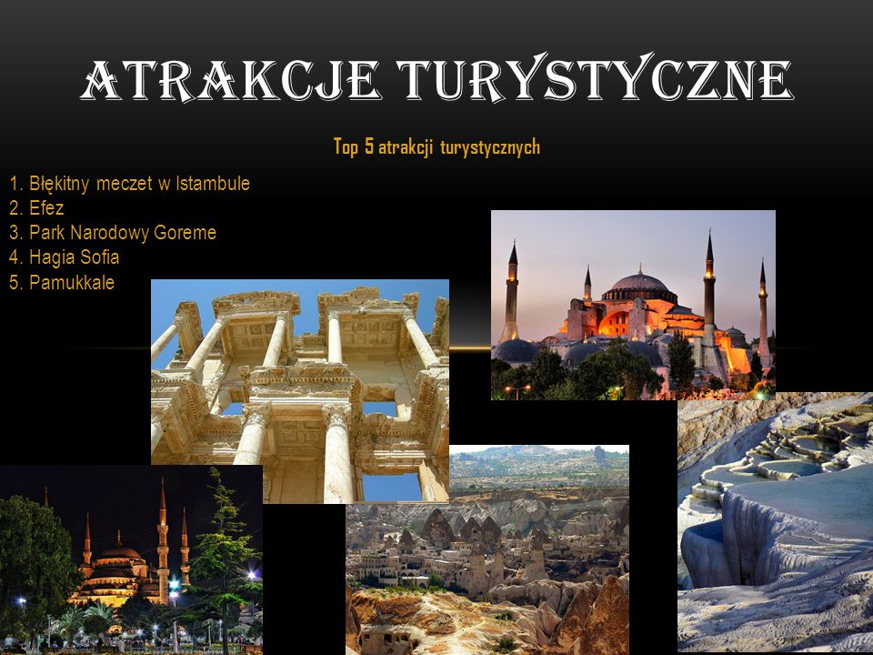 Top 5 atrakcji turystycznych
