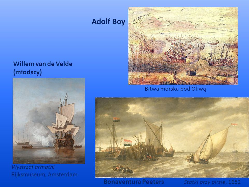 Adolf Boy Willem van de Velde (młodszy) Bonaventura Peeters