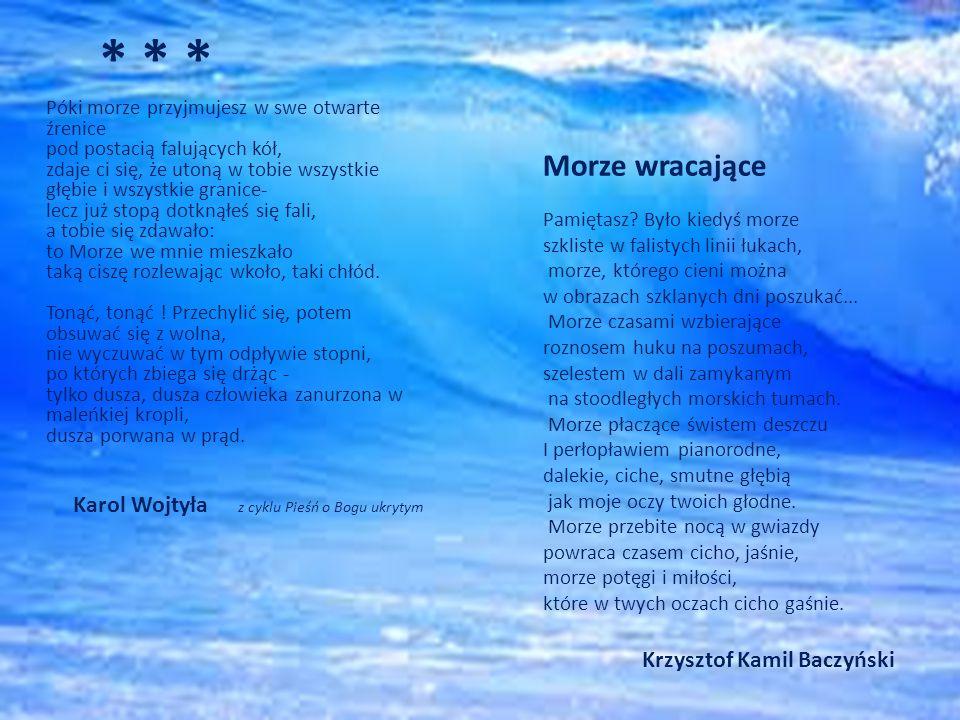 * * * Morze wracające Krzysztof Kamil Baczyński