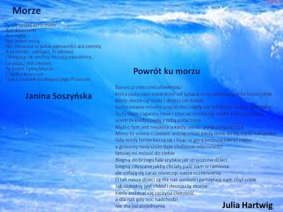 Morze Powrót ku morzu Julia Hartwig