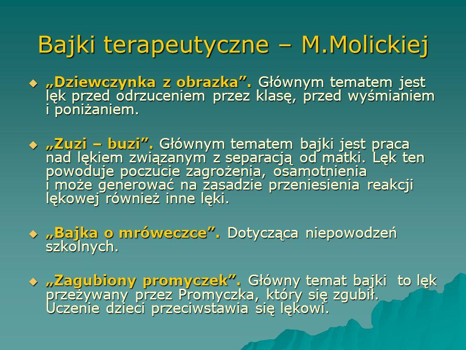 Bajki terapeutyczne – M.Molickiej