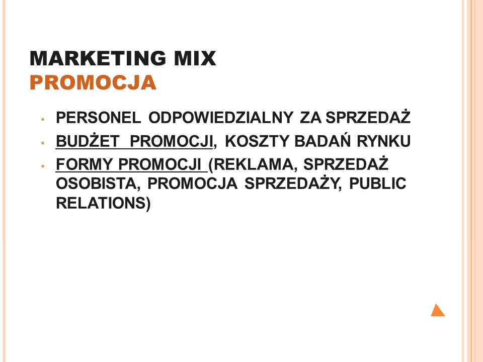 MARKETING MIX PROMOCJA