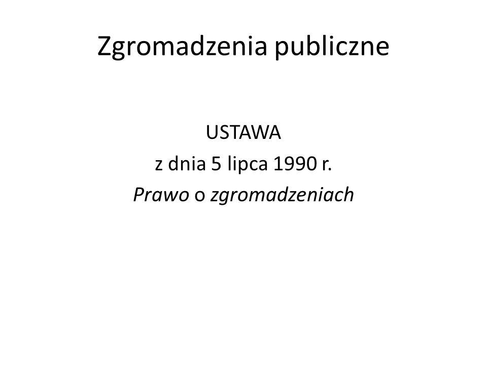 Zgromadzenia publiczne