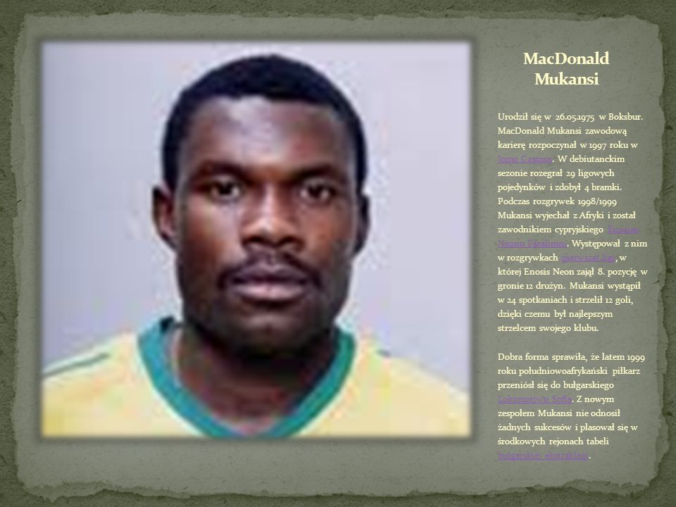 MacDonald Mukansi