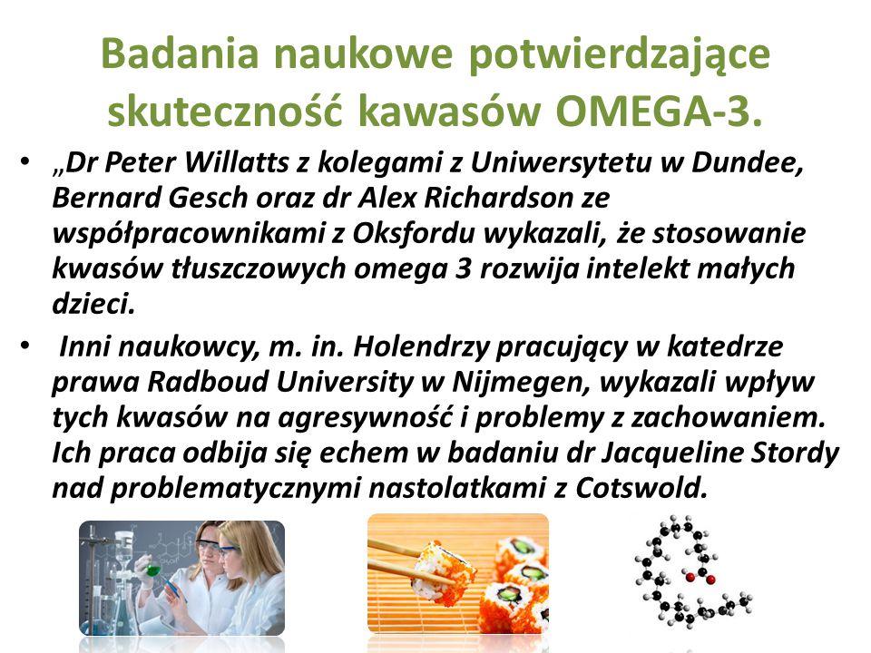 Badania naukowe potwierdzające skuteczność kawasów OMEGA-3.