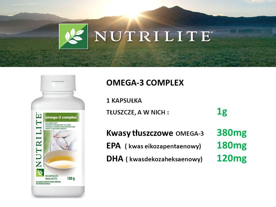 Kwasy tłuszczowe OMEGA-3 380mg EPA ( kwas eikozapentaenowy) 180mg
