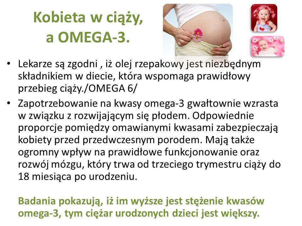 Kobieta w ciąży, a OMEGA-3.