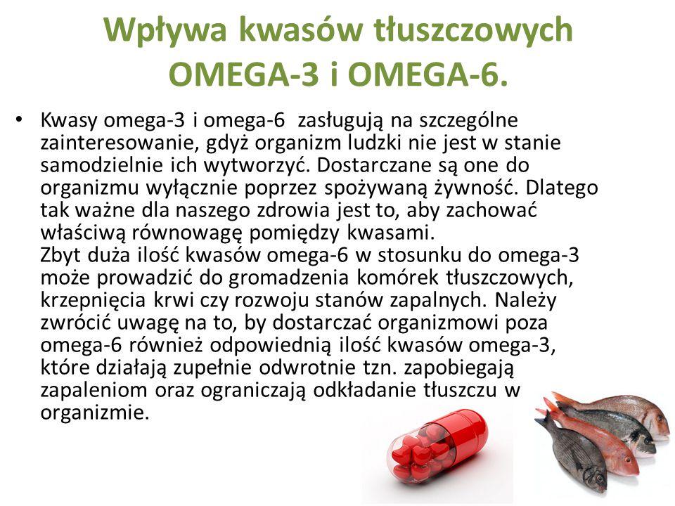 Wpływa kwasów tłuszczowych OMEGA-3 i OMEGA-6.