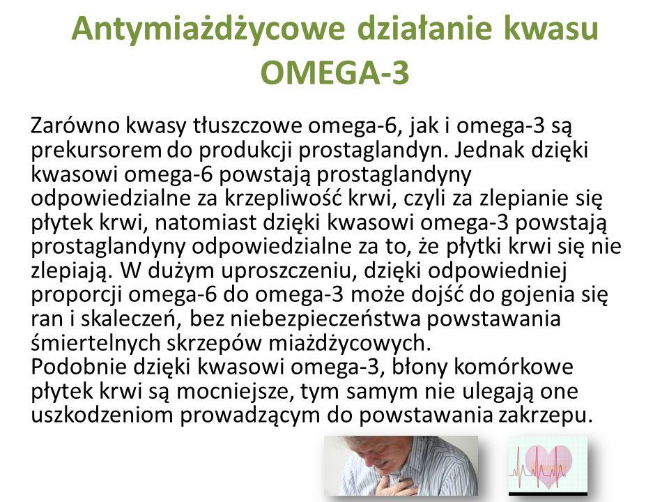 Antymiażdżycowe działanie kwasu OMEGA-3