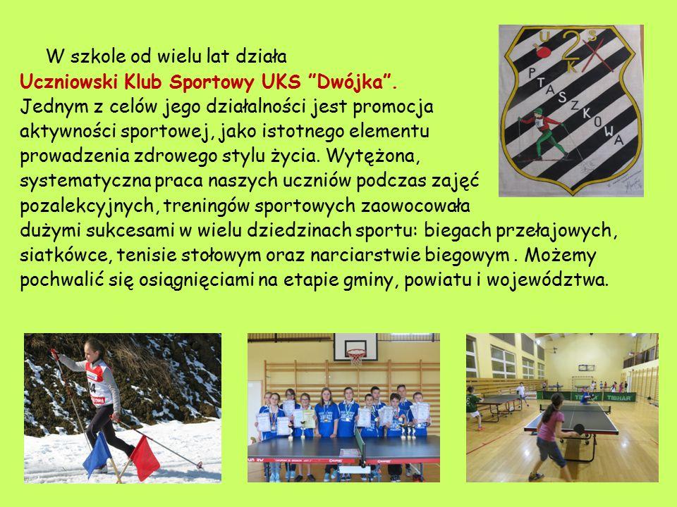 W szkole od wielu lat działa Uczniowski Klub Sportowy UKS Dwójka