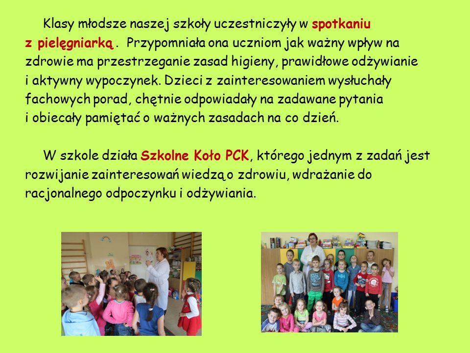 Klasy młodsze naszej szkoły uczestniczyły w spotkaniu z pielęgniarką