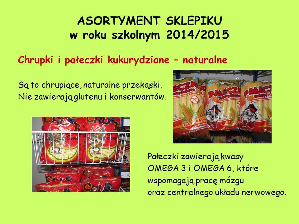 ASORTYMENT SKLEPIKU w roku szkolnym 2014/2015